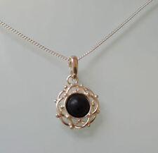 Collares y colgantes de joyería con gemas de plata de ley ónix
