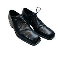 Cesare Paciotti Mens Size US 8 Italian Black Leather Quality Dress Shoes Oxford