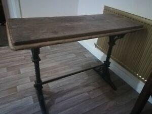 Vintage Cast Iron Pub Table