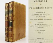 1808*MEMOIRS OF AN AMERICAN LADY*REVOLUTION*NEW YORK*MOHAWK INDIANS*SCOTTISH*VG*