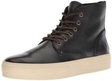New Frye Beacon Lace-Up Men Leather Sneakers blk