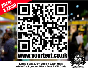 QR CODE sticker for Shop Exhibition Stand Website Club WIFI Business MED & LARGE