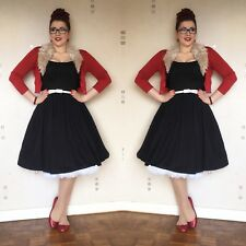 Pinup Girl Clothing Jenny Dress in Black Size Large