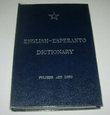 ENGLISH ESPERANTO DICTIONARY FULCHER & LONG  - 1963 HB - VGC