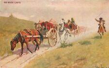 Artist impression C-1910 Cowboy Western Innes postcard MacFarlane 3923