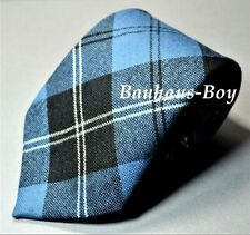 NECK TIE ANCIENT RAMSAY BLUE TARTAN 100% PURE WORSTED WOOL MADE IN SCOTLAND MENS