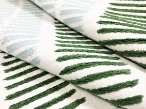 Thibaut Topsail Stripe Seafoam & Kelly Green Aqua Performance Upholstery Fabric