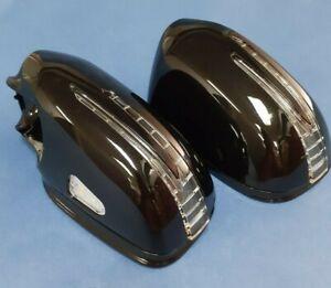 2 ARROW LED BLACK (#197) MIRROR COVERS FOR 2007-2009 MERCEDES BENZ W211 E-CLASS