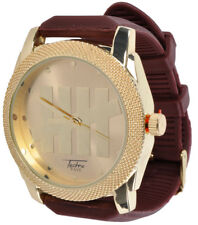 Tally Wrist Watch Techno Pave Gold Brown Adjustable Strap for Men