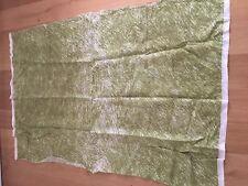 "Marimekko Fabric ""Villisika""  One Yard, New,100% LINEN, Green/White/Tan"