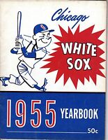 1955 Chicago White Sox Baseball Yearbook,magazine,Minnie Minoso, Nellie Fox ~ Gd