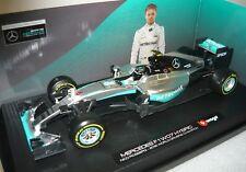 Bburago 11703, Mercedes F1 W07 Hybrid, Nico Rosberg-2016 WDC, 1/18, NEU&OVP