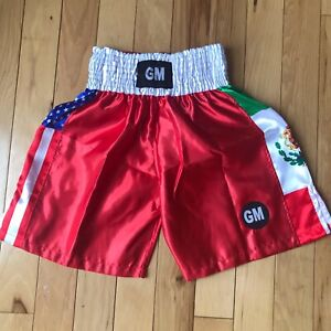 Red US/Mexico Flag Boxing, Training, Fitness, MMA, Martial Art Grappling Shorts