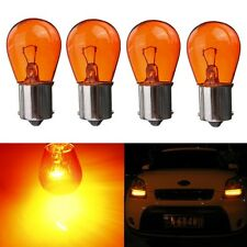4x 21W 12V 1156 BA15S Filament Car Motorcycle Vehicle Indicator Amber Light Bulb