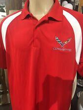 Corvette C07 Polo Shirt Red Size XL Sporttek