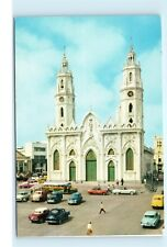 *Iglesia de San Roque Barranquilla Columbia Cars Church Vintage Postcard C65