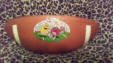 m&m collectible candy dish ceramic football snack bowl