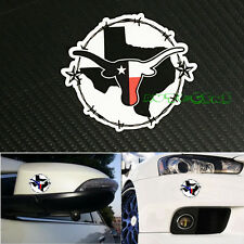 (1) Jdm Sm. State Of Texas Flag /Barbed Wire Reflective Vinyl Decal Sticker (Fits: 2005 3)