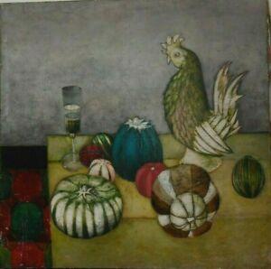 Tableau nature morte énigmatique - expressionnisme XXe s Belles dimensions