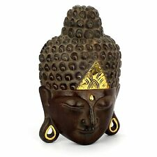Buddha Kopf - Holz Maske - Handarbeit aus Bali - 39 cm - Wandbild Relief Asien