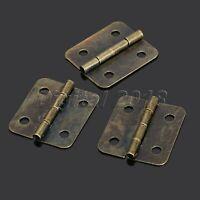 12pcs Antique Brass Jewelry Gift Wood Box Cabinet Drawer Hinge & Screws Tool Set