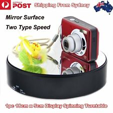 8d9c2c6fd2de6 18cm Top Mirror Glass 360° Rotating Rotary Display Stand Turntable Battery  Power