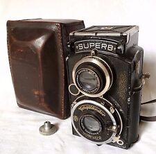 Voigtlander Superb 120 Film TLR Camera +Rare Voigtländer Heliar 3.5/75 Lens,Case