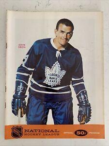 1967-68 NHL Hockey North Stars Vs Toronto Maple Leafs Official Program! (B120)