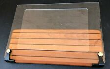 New listing Deluxe Large Cookbook Holder - Acrylic Shield With Cherry Wood Base; Made in Usa
