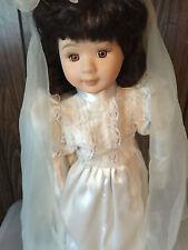 "Heritage Collection Porcelain Bride Doll Felisha 20"" Nib With Coa"