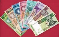8 MALAWI UNC NOTES: 5 Kw, 10 Kw, 20 Kw, 50 Kw, 100 Kw, 200 Kw, 500 & 1000 Kwacha