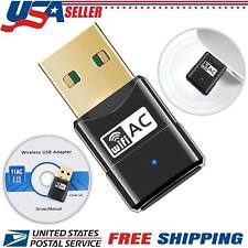 USB Dual Band Wifi Dongle 600Mbps 2.4G/5G 802.11AC Wireless Network Adapter USA