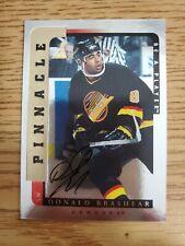 1996-97 Be A Player Autographs Silver #181 Donald Brashear