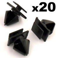 20x Peugeot 406 Plastic Trim Clips for Door Side Moulding / Bumpstrip Rubstrip