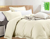 NEW Egyptian Cotton Bamboo King Size Eggnog Ivory Quilt Cover Set | RRP $219.99