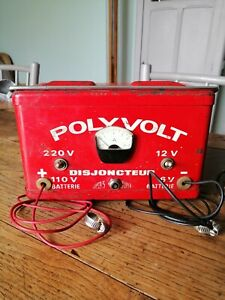 Chargeur de Batterie ancien vintage marque POLYVOLT