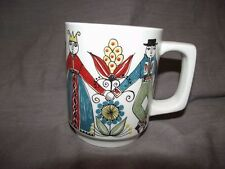 FF Saga Norsk Design Handpainted Silkscreen Mug Norway