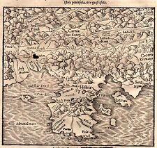 Xilographia Istria Friuli Carnia Trieste Duino Ljubljana Hrvatska Munster 1575