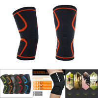 2PCS Elastic Compression Sleeve Knee Support Brace Knee Pads Basketball Run New