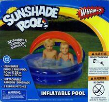Wham-O Sunshade Pool Inflatable Pool with Detachable Rainbow Sunshade New