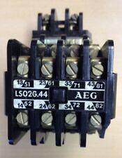 AEG Hilfs-Schütz LS02G.44 220V/DC  Hilfsk.: 4 Schließer, 4 Öffner NEU,OVP