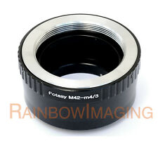 M42 42mm Screw Lens to Micro 4/3 m43 Adapter GF5 GF6 GX1 GX2 GX7 GM1 GH3 GH4 G10