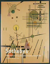 CATALOGUE VENTE ENCHERES - SOTHEBY'S - IMPRESSIONIST & MODERN WORKS ON PAPER