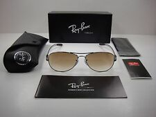 RAY-BAN TECH SUNGLASSES RB8301 004/51 GUNMETAL/BROWN GRADIENT LENS NEW! 59MM
