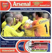 Arsenal 2003-04 Aston Villa (Thierry Henry) Football Stamp Victory Card #322