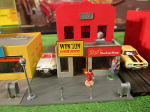 NMINT Tyco Wun Tun Barber Shop T Jet Race Railroad Train Track Set Building