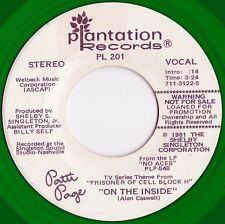 Patti Page US Green Vinyl Promo 45 On the inside NM '81 Theme from Prisoner US