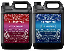 Dirtbusters Carpet cleaning solution shampoo aroma berry fresh Cleaner 2x5L vax