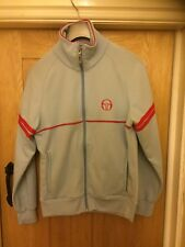 Vintage 80's/90's Sergio Tacchini Sky Blue/Red Tracksuit Jacket - Small