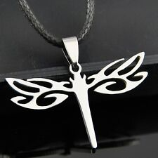 Lovely Dragonfly Hollow Stainless Steel Pendants Necklace